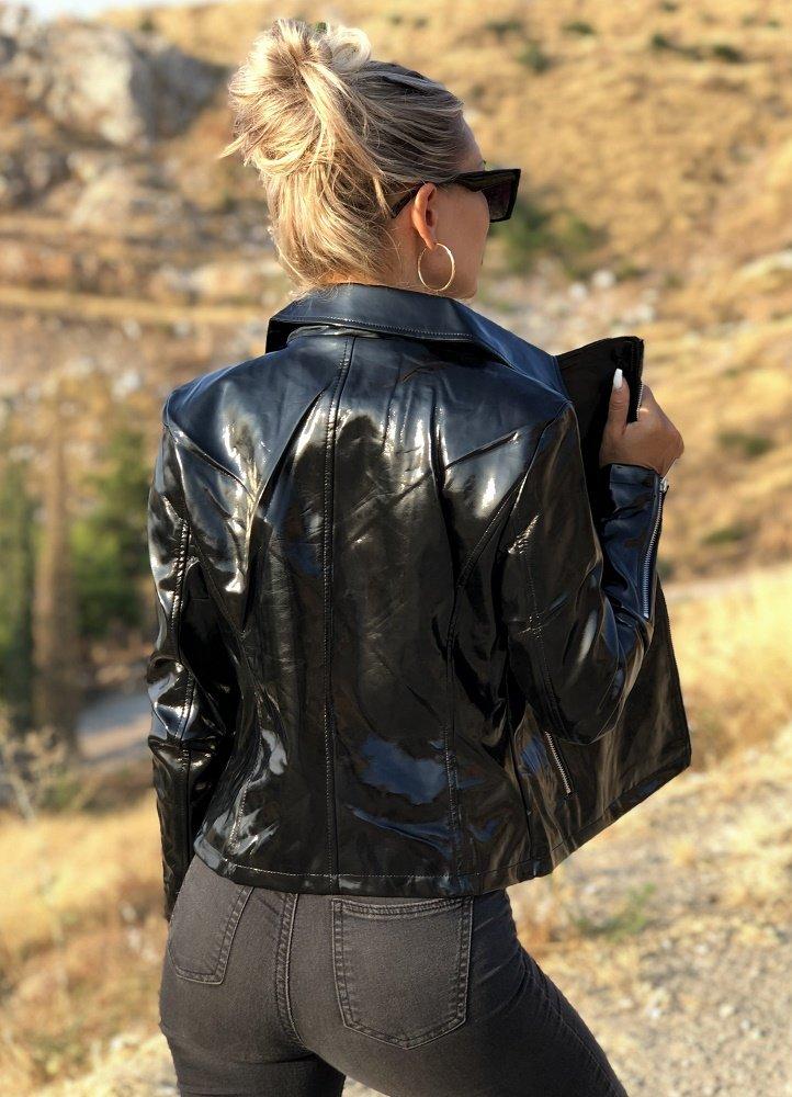 6bab94b5cca γυαλιστερό δερματίνη jacket - Parizianista.gr
