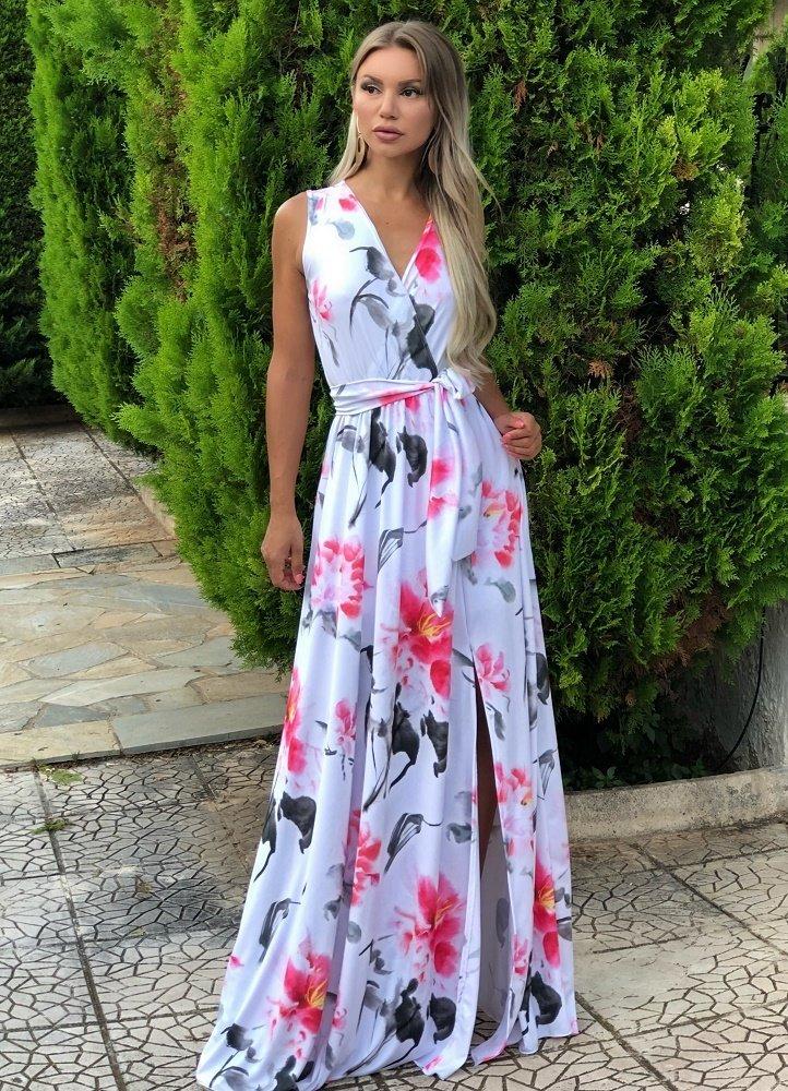 ca0a7ba47e6 maxi αμάνικο φόρεμα με σκίσιμο - Parizianista.gr