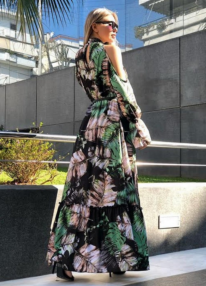 55e843a2d4ba maxi έξωμο φόρεμα με σκίσιμο - Parizianista.gr