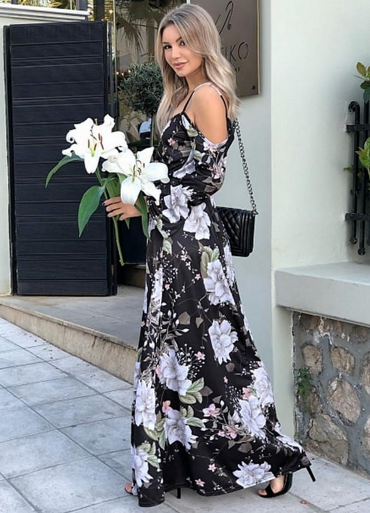Maxi φόρεμα έξωμο - Parizianista.gr 7e137f70253