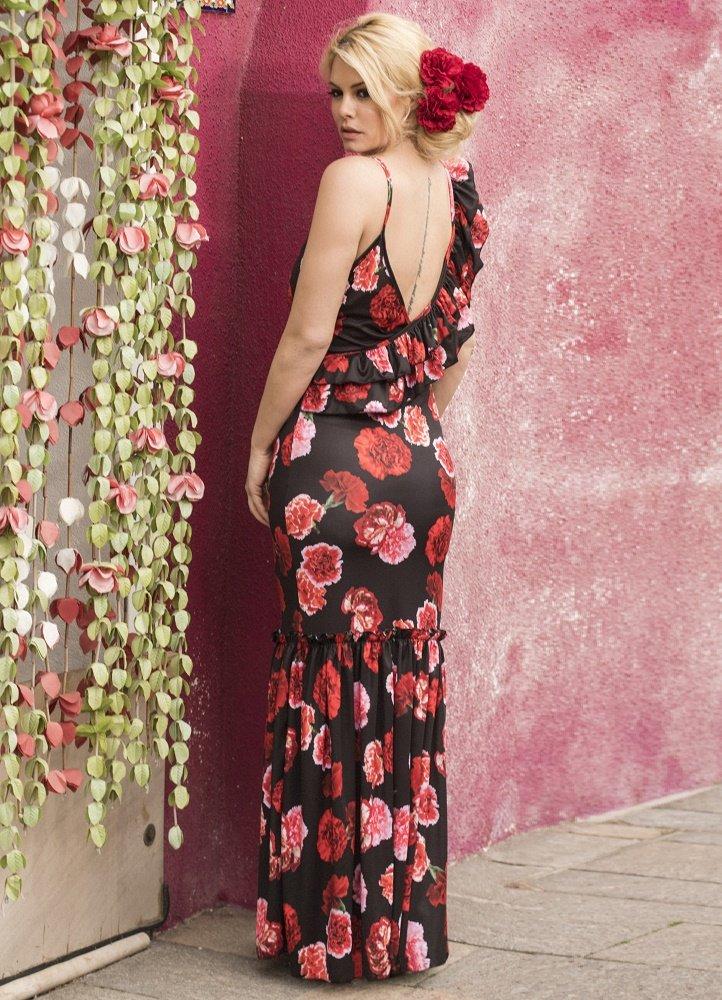 f1548246989d maxi φόρεμα τιράντα με βολάν by Maria Korinthiou Collection ...