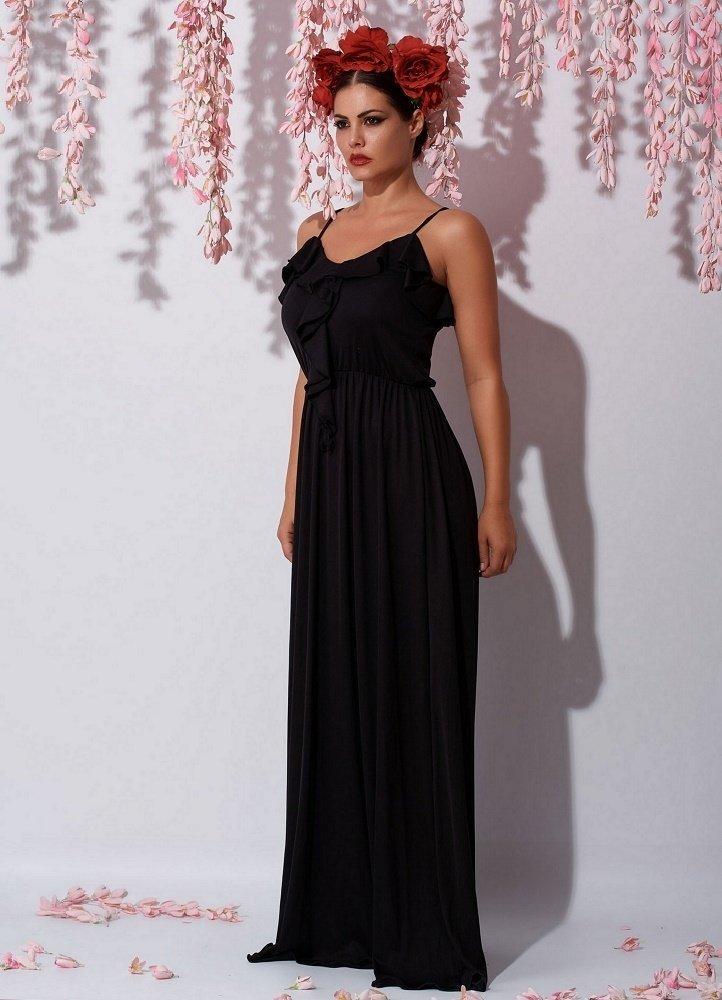 073c9825e781 maxi φόρεμα τιράντα με βολάν στο μπούστο by Maria Korinthiou ...