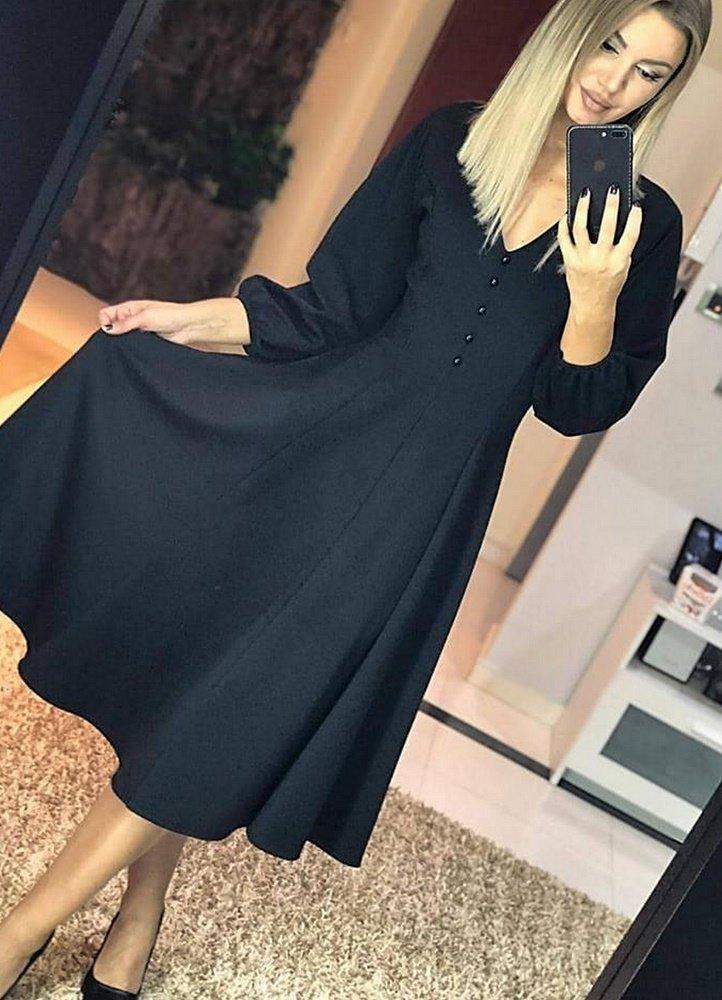 midi αέρινο κλος φόρεμα με κουμπάκια στο ντεκολτέ - Parizianista.gr 89578a72f57