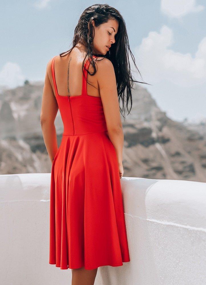 midi κλος φόρεμα με τιράντα by Maria Korinthiou Collection - Parizianista.gr e7a56427268
