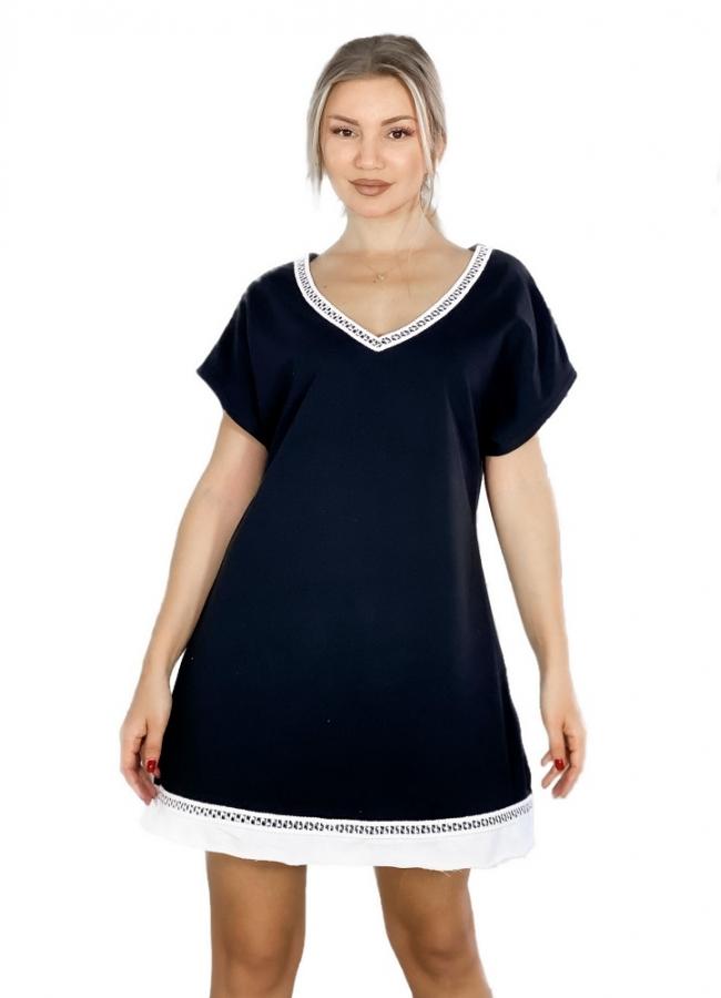 φούτερ μπλουζοφόρεμα με τρέσα