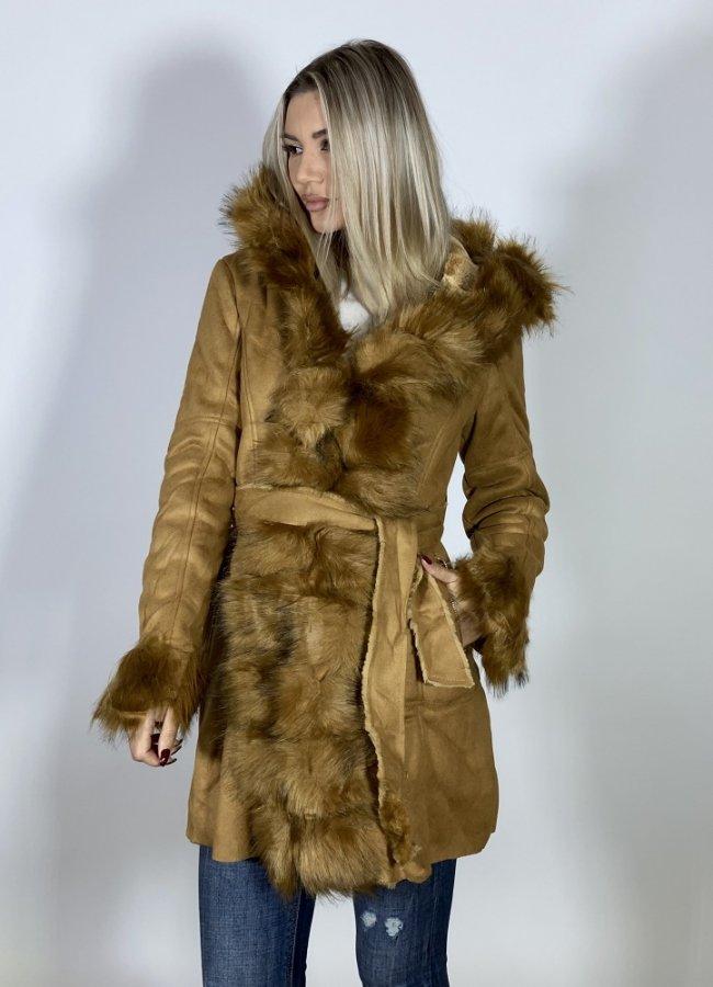 αλκανταρα jacket με κουκούλα