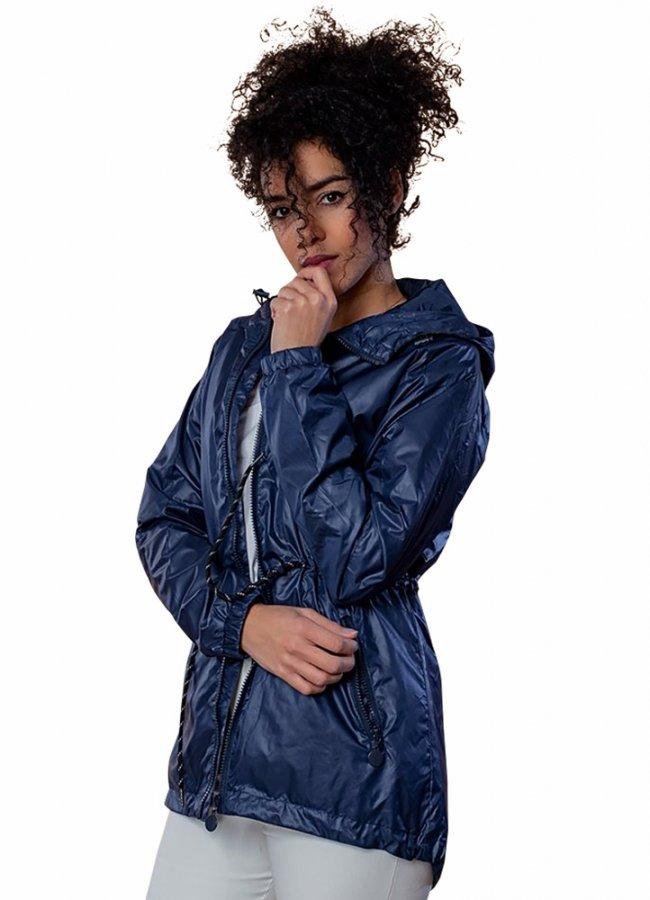 αντιανεμικό μπουφάν με κουκούλα - Μπλε σκούρο