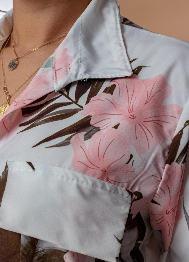 floral πουκάμισο
