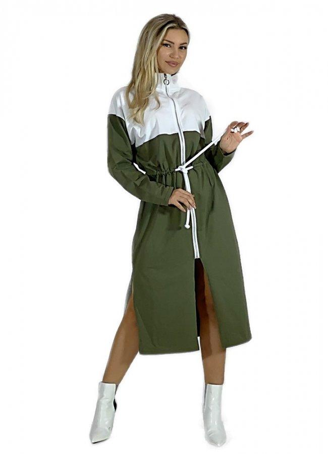 sweatshirt dress / cardigan