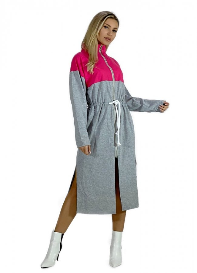 φούτερ φόρεμα/ ζακέτα δίχρωμο