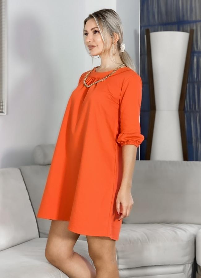 φούτερ μπλουζοφόρεμα με 3/4 μανίκι