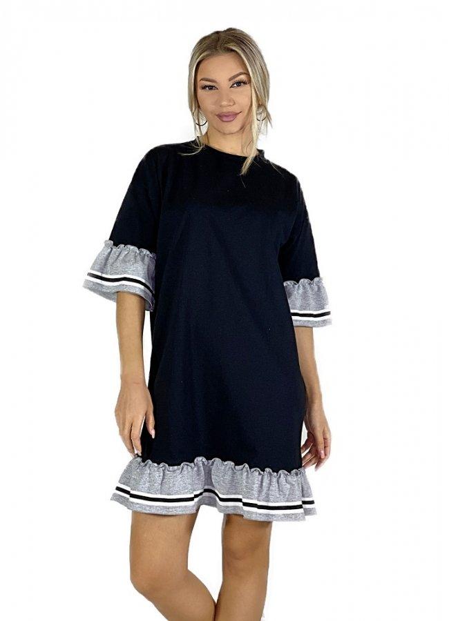 φούτερ μπλουζοφόρεμα με βολάν