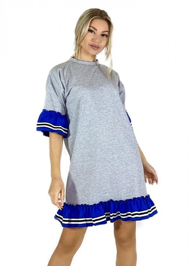 sweatshirt blouse with ruffles