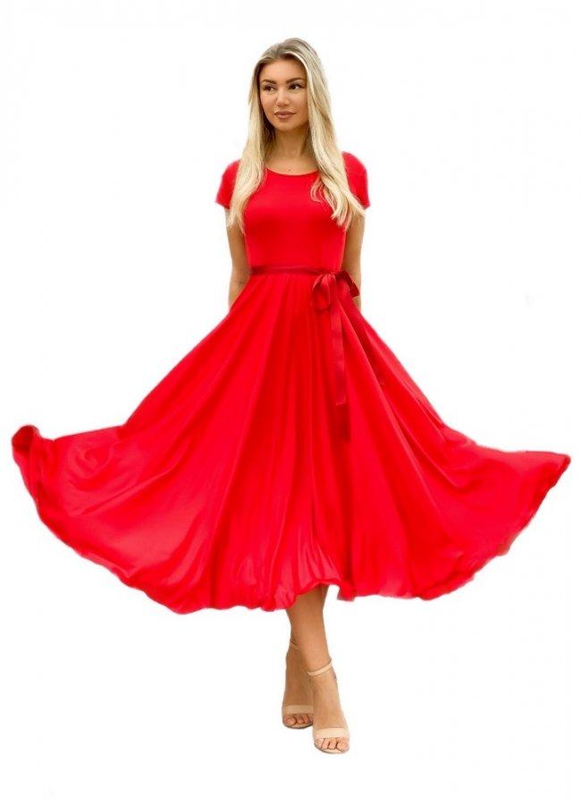 κοντομάνικο κλος φόρεμα με ζωνάκι