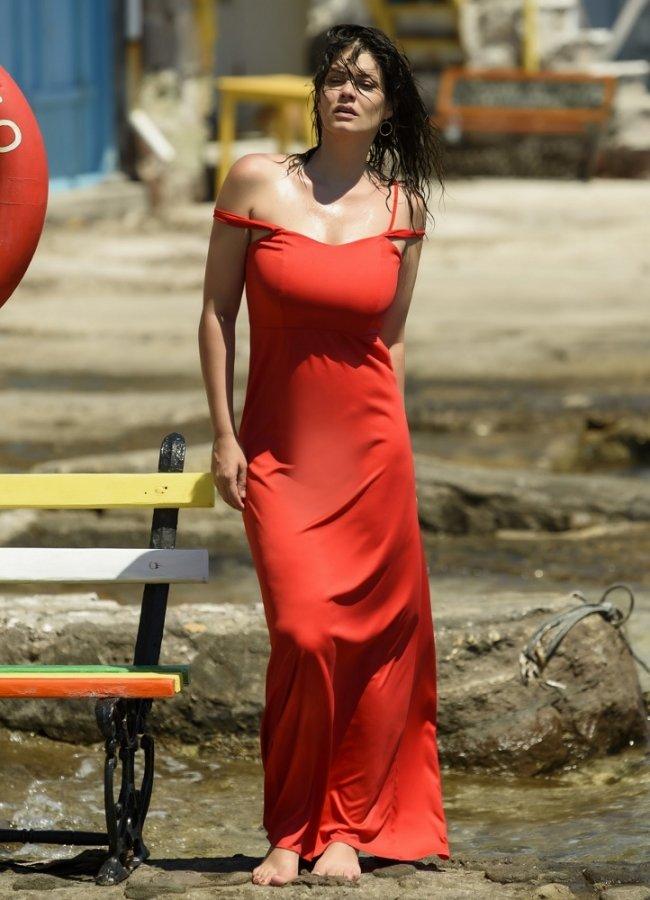 μάξι φόρεμα τιράντα by Maria Korinthiou Collection - Κόκκινο αρχικη   ρουχα   φορεματα   maxi