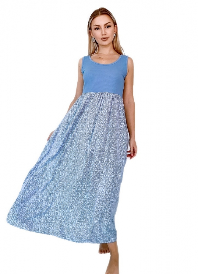 maxi casual φόρεμα με χοντρή τιράντα