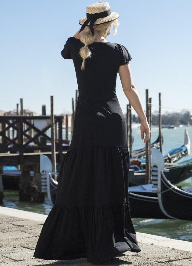 bad95e9fd223 maxi φόρεμα με βολάν by Maria Korinthiou Collection