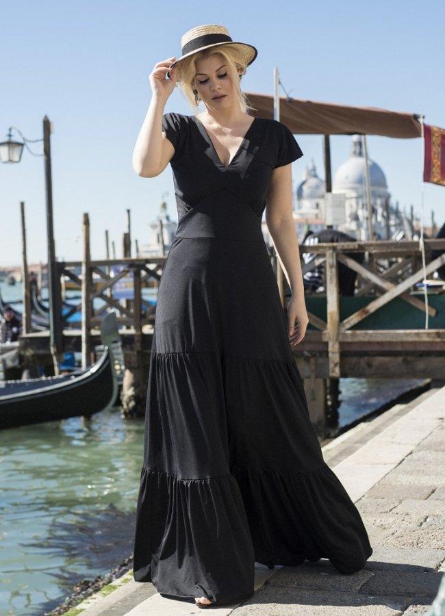 67acc6a26bea mini φόρεμα έξωμο με μανικάκια και βολάν στο τελείωμα by Maria Korinthiou  Collection - Parizianista.gr