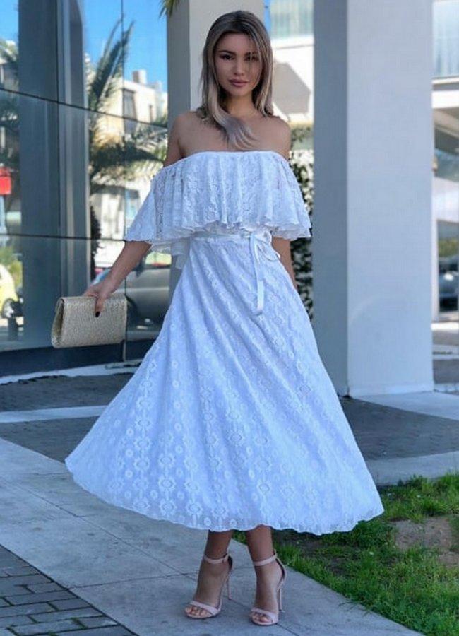 ab6ef255359e maxi φόρεμα κοντομάνικο δαντέλα - Parizianista.gr