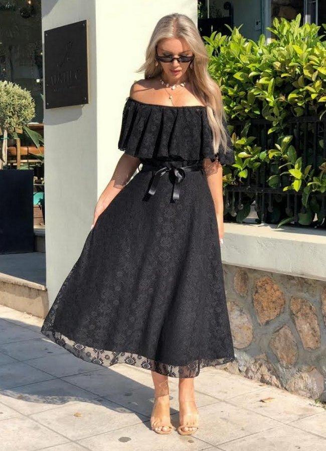 0d46054b1421 Φόρεμα midi χιαστί στην πλάτη - Parizianista.gr
