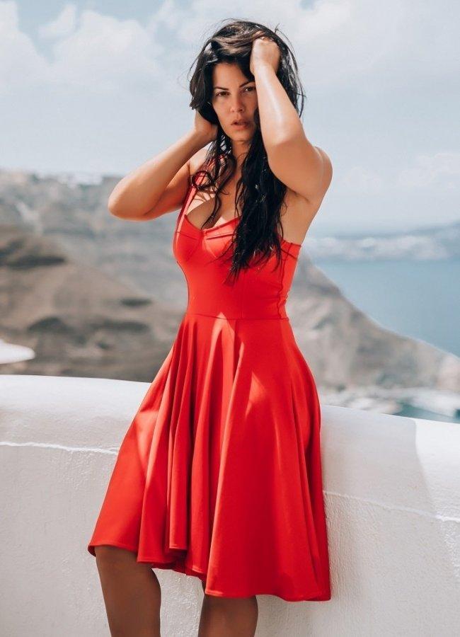 midi κλος φόρεμα με τιράντα by Maria Korinthiou Collection e646d2d3511