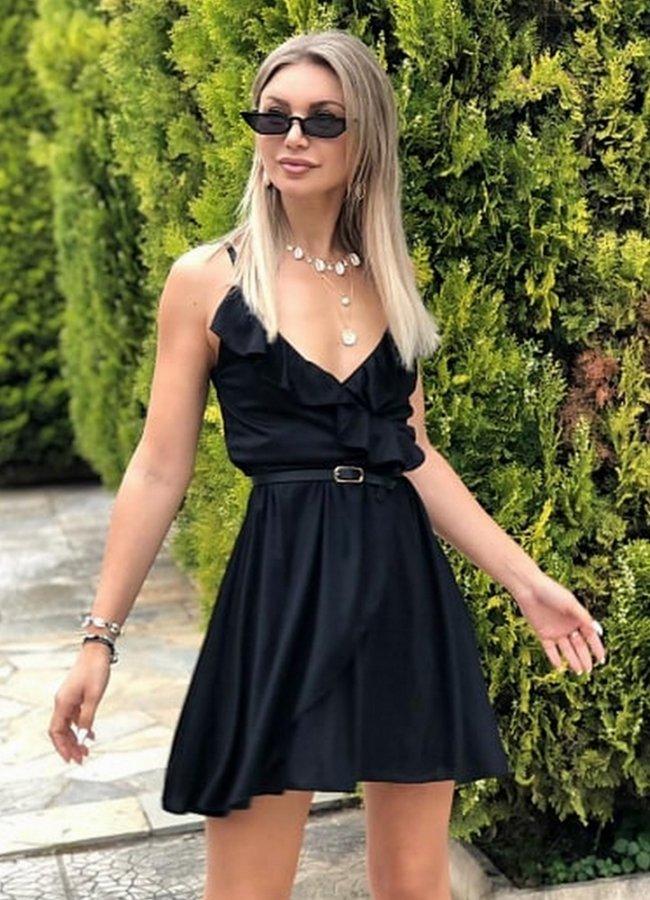 ce6fb1fe281 μινι φόρεμα τιράντα με βολάν