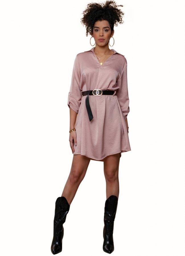μίνι πουκαμισοφόρεμα με ζώνη