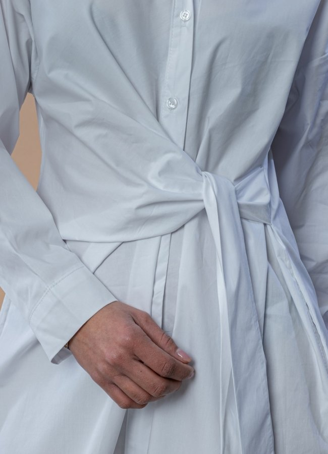 μίντι καμπαρντινέ φόρεμα / πουκαμίσα