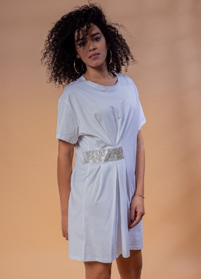μπλουζοφόρεμα με στρας