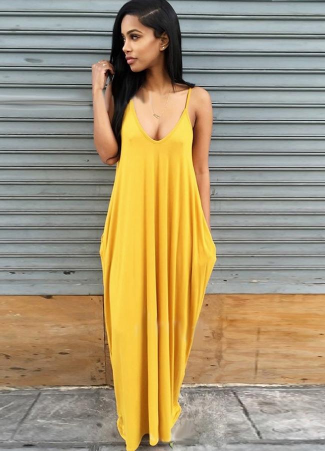 ολόσωμη φόρμα/βράκα τιράντα - Κίτρινο