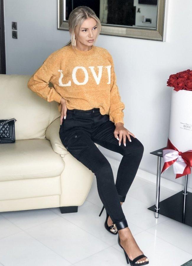 πλεκτή μπλούζα ''LOVE''