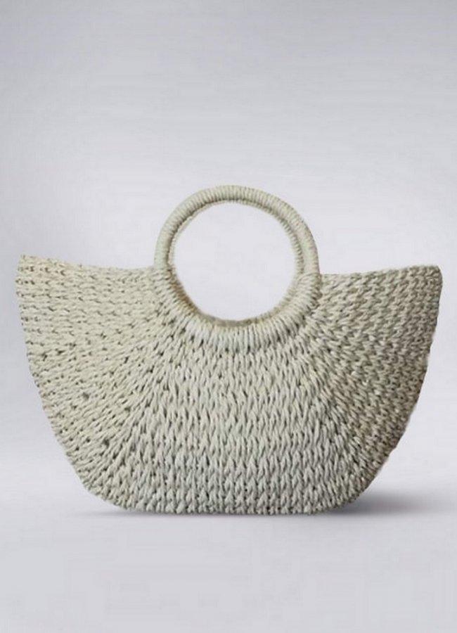 ψάθινη τσάντα  χειρός