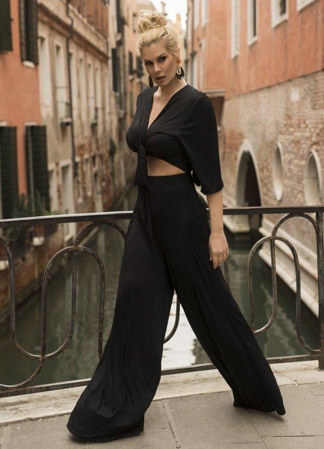 ψηλόμεση παντελόνα ελαστική by Maria Korinthiou Collection