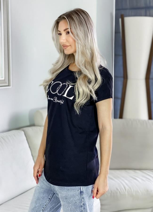 t-shirt μακρύ με στάμπα