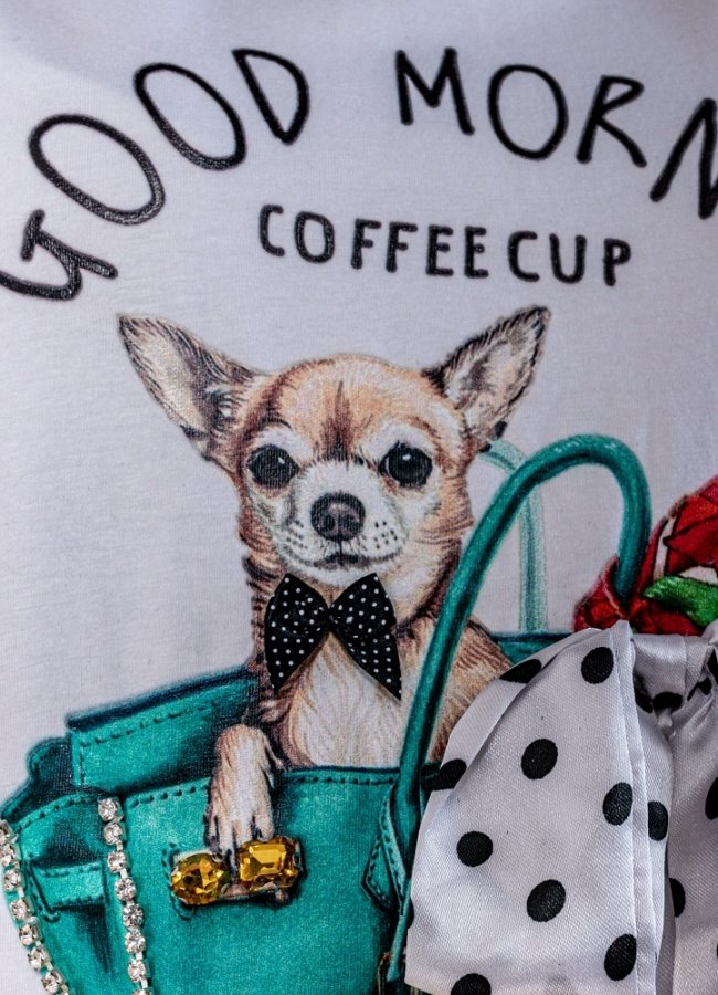 t-shirt with polka bow