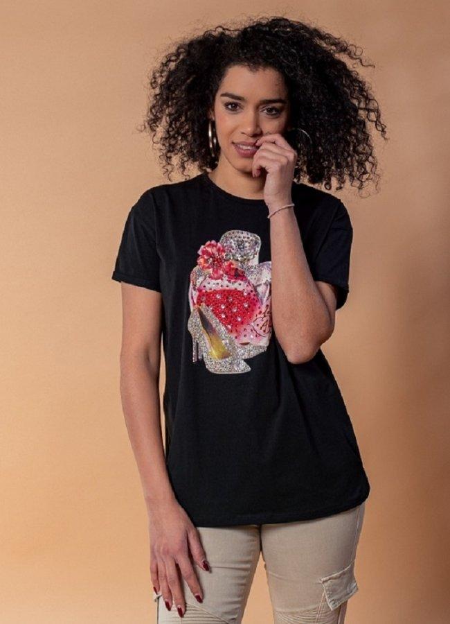 t-shirt με στάμπα