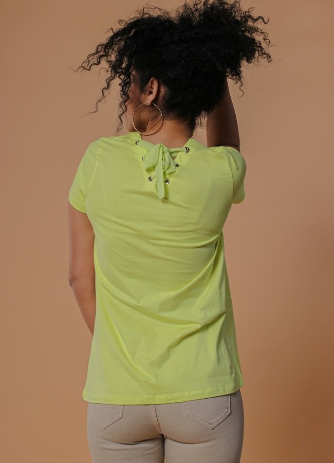 t-shirt with stamp and straps