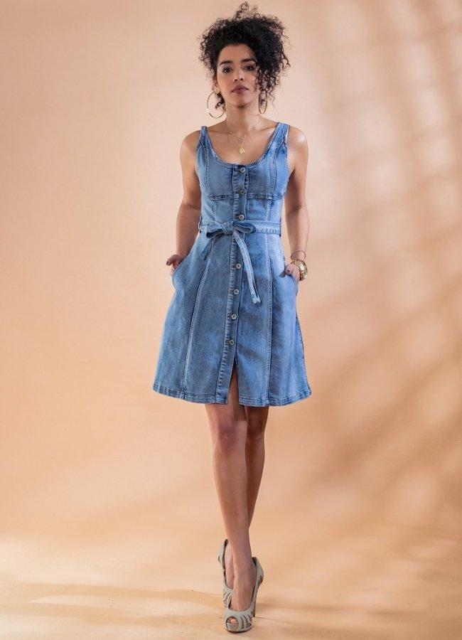 τζιν μίνι φόρεμα με ζωνάκι