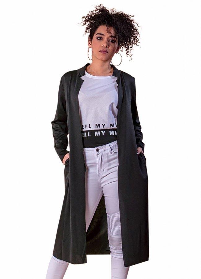 ζακέτα casual με κοντό γιακά